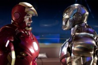 two iron man suits from the movie iron man 2