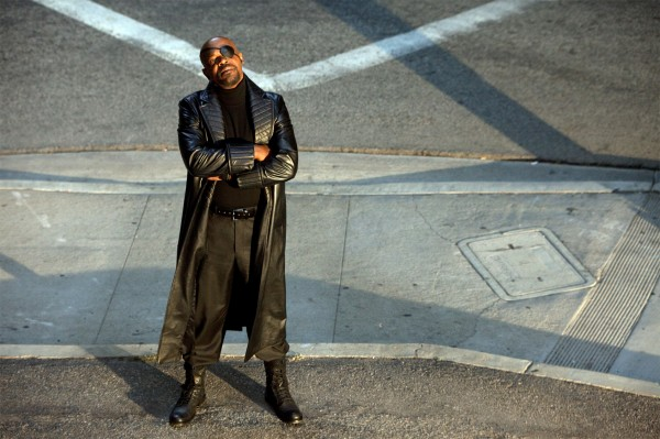 NICK FURY played by SAMUEL L. JACKSON in the movie Iron Man 2