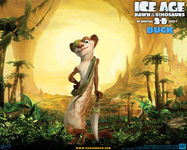 buck the weasel standing proud