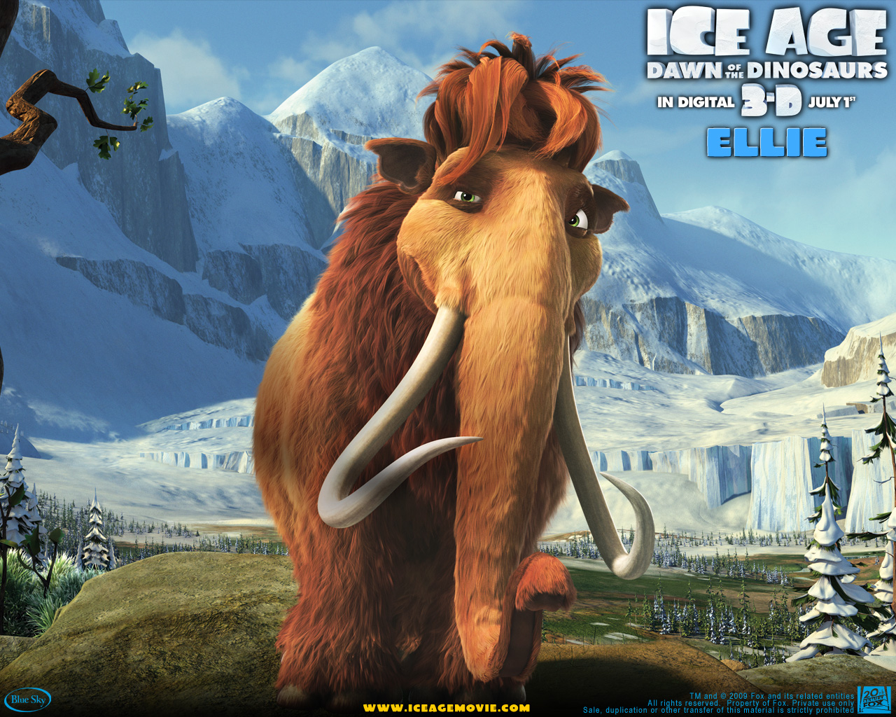Ellie from Ice Age wallpaper - Click picture for high resolution HD
