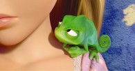 Rapunzel's pet chameleon Pascal from Disney's animated movie Tangled