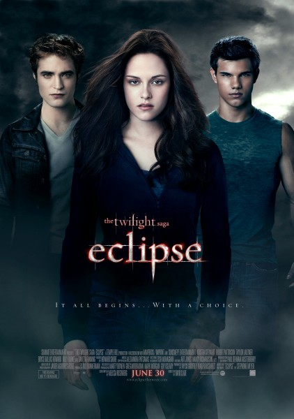 Bella, Edward and Jacob from the Twilight Saga Eclipse movie poster