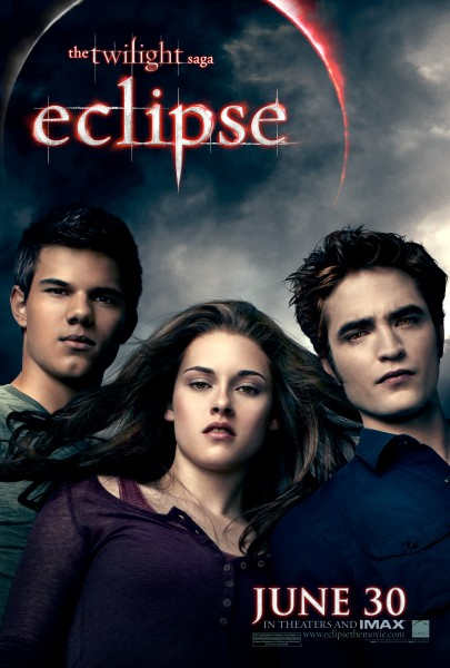 Twilight Saga Eclipse movie poster showing Bella, Jacob and Edward
