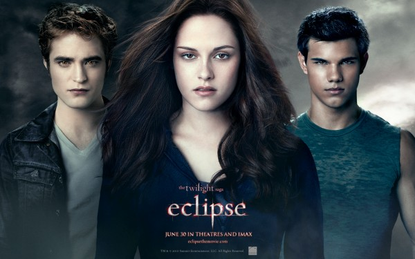 Twilight Saga Eclipse movie wallpaper image with Bella, Jacob and Edward