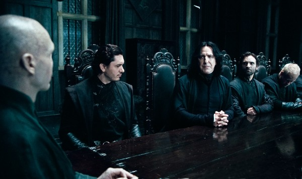 Voldemort and Snape in a scene from Harry-Potter-Deathly-Hallows