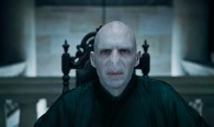 The evil Lord Voldemort in a scene from Harry-Potter-Deathly-Hallows