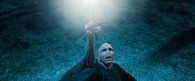 Lord Voldemort casting a spell in a scene from Harry-Potter-Deathly-Hallows