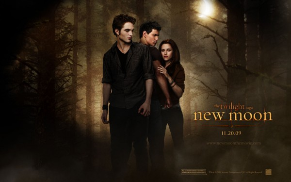 Bella, Jacob and Edward from Twilight New Moon Wallpaper