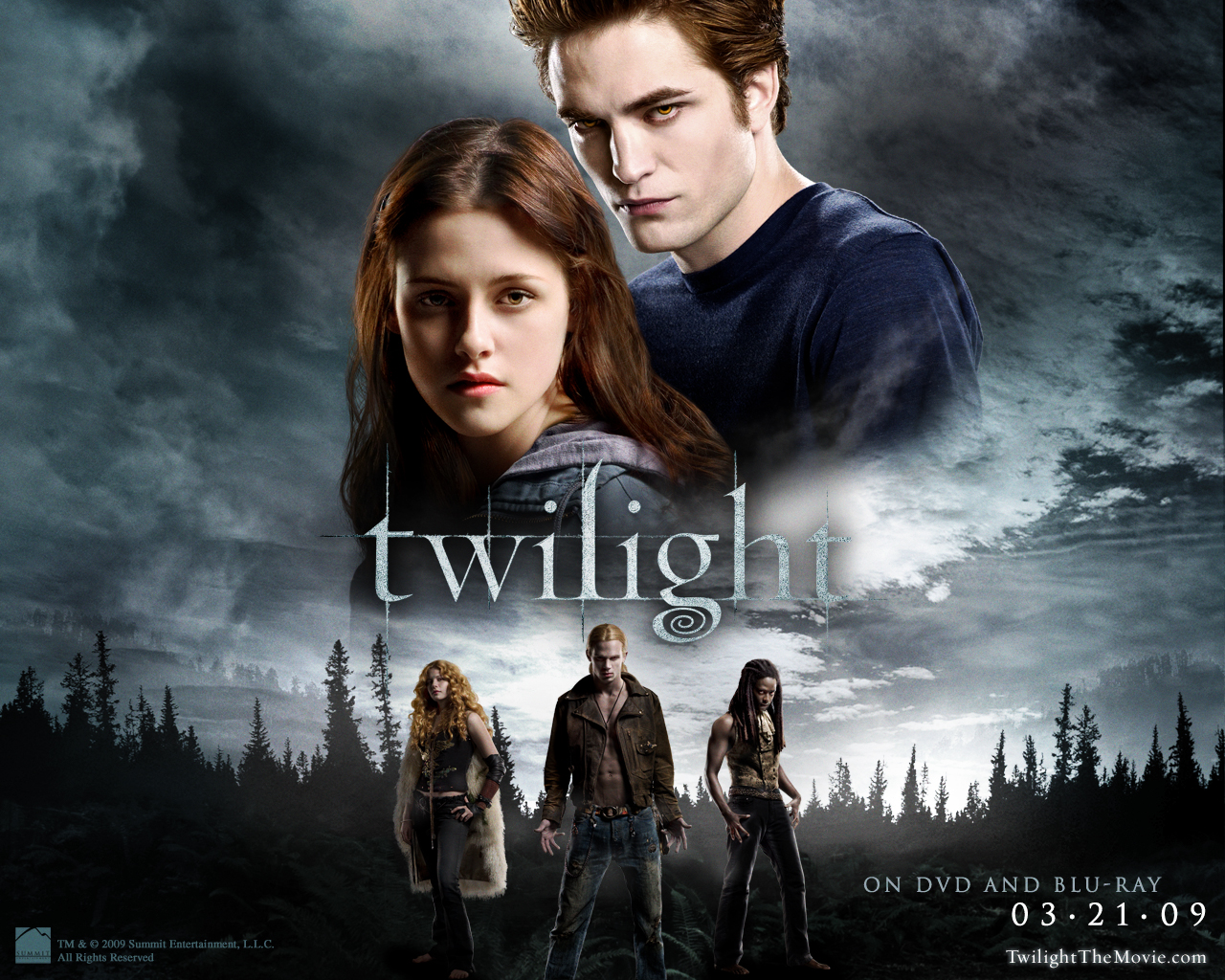 twilight new moon: bella and edward desktop wallpaper
