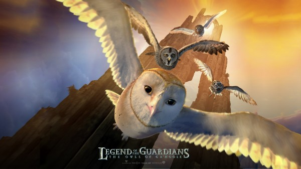Soren and his friends flying. One sheet movie poster from Legend of the Guardians