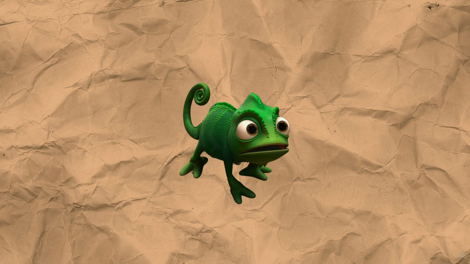 Pascal The Chameleon Disney S Tangled Desktop Wallpaper