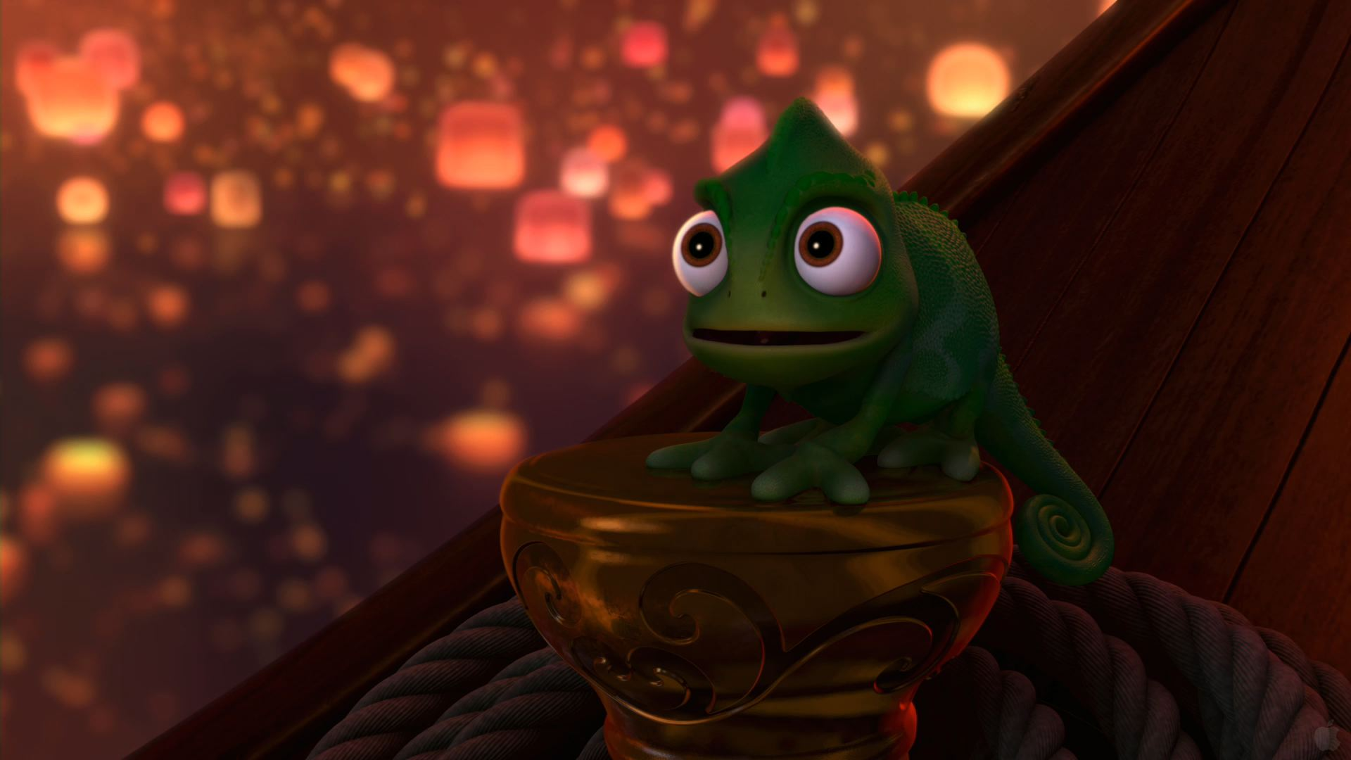 Pascal In Disney S Tangled Desktop Wallpaper