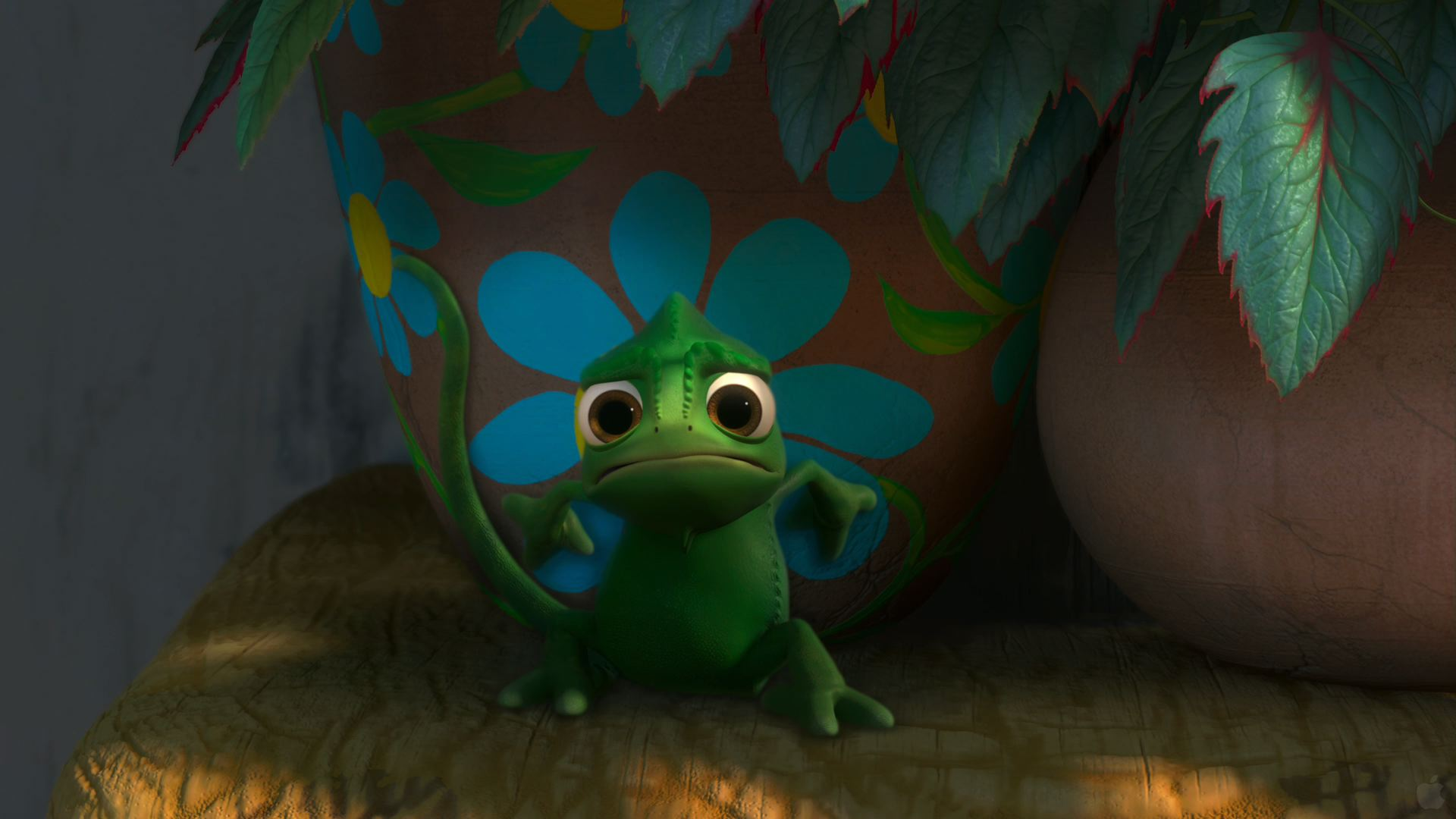 Pascal The Cute Chameleon From Disney S Tangled Desktop Wallpaper