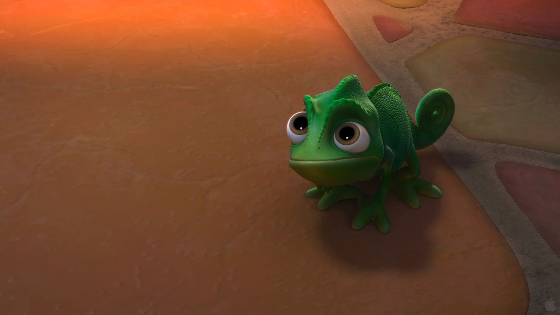 Pascal The Chameleon From Disney S Tangled Desktop Wallpaper