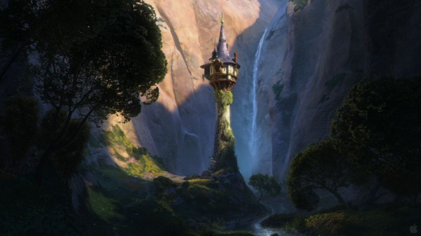 Rapunzel's tower window from the DIsney movie Tangled