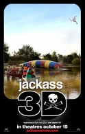 jackass movie in 3D being blasted by paintballs
