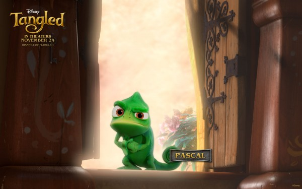 Pascal from the DIsney movie Tangled
