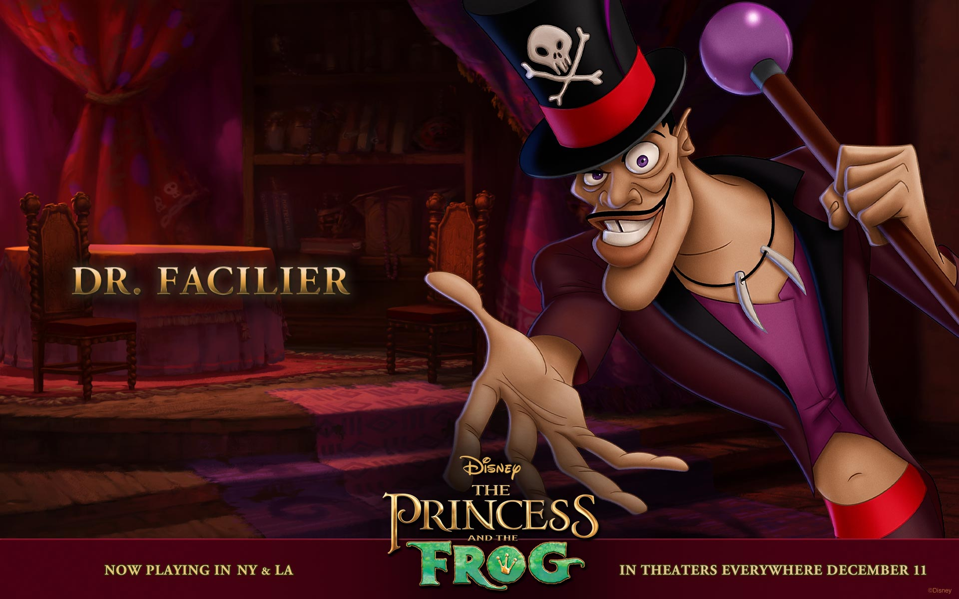 Dr Facilier From Princess And The Frog Desktop Wallpaper