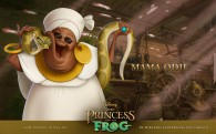 Mama Odie and her snake Juju from Disney's Princess and the Frog wallpaper