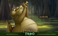 Louis the alligator playing his trumpet from Disney's Princess and the Frog wallpaper