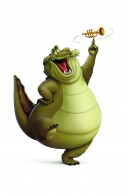 Louis the gator from Disney's Princess and the Frog wallpaper