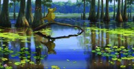 Louis the gator in the bayou from Disney's Princess and the Frog wallpaper