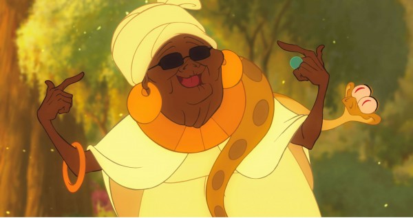Mama Odie and her snake Juju from Disney's Princess and the Frog