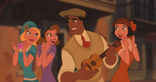 Prince Naveen on the streets of New Orleans from Disney's Princess and the Frog movie wallpaper