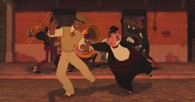 Prince Naveen dances with Lawrence from Disney's Princess and the Frog movie wallpaper