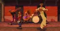 Prince Naveen dances on the streets of New Orleans from Disney's Princess and the Frog movie wallpaper