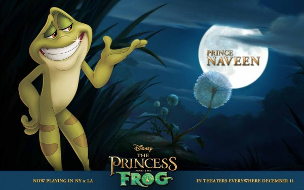 Prince Naveen as a frog from the Disney movie Princess and the Frog wallpaper