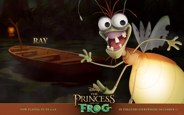 Ray the lightning bug from the Disney movie Princess and the Frog wallpaper