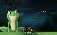 Tiana as a frog in the bayou from the Disney movie Princess and the Frog wallpaper