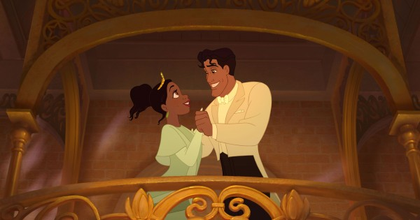 Tiana and Naveen from the Disney movie Princess and the Frog wallpaper
