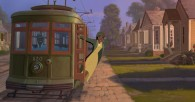 Tiana in a street car from the Disney movie Princess and the Frog wallpaper