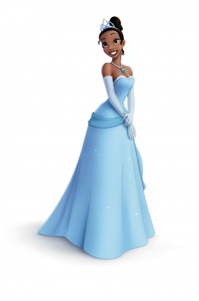 Tiana poses in a gown from the Disney movie Princess and the Frog wallpaper