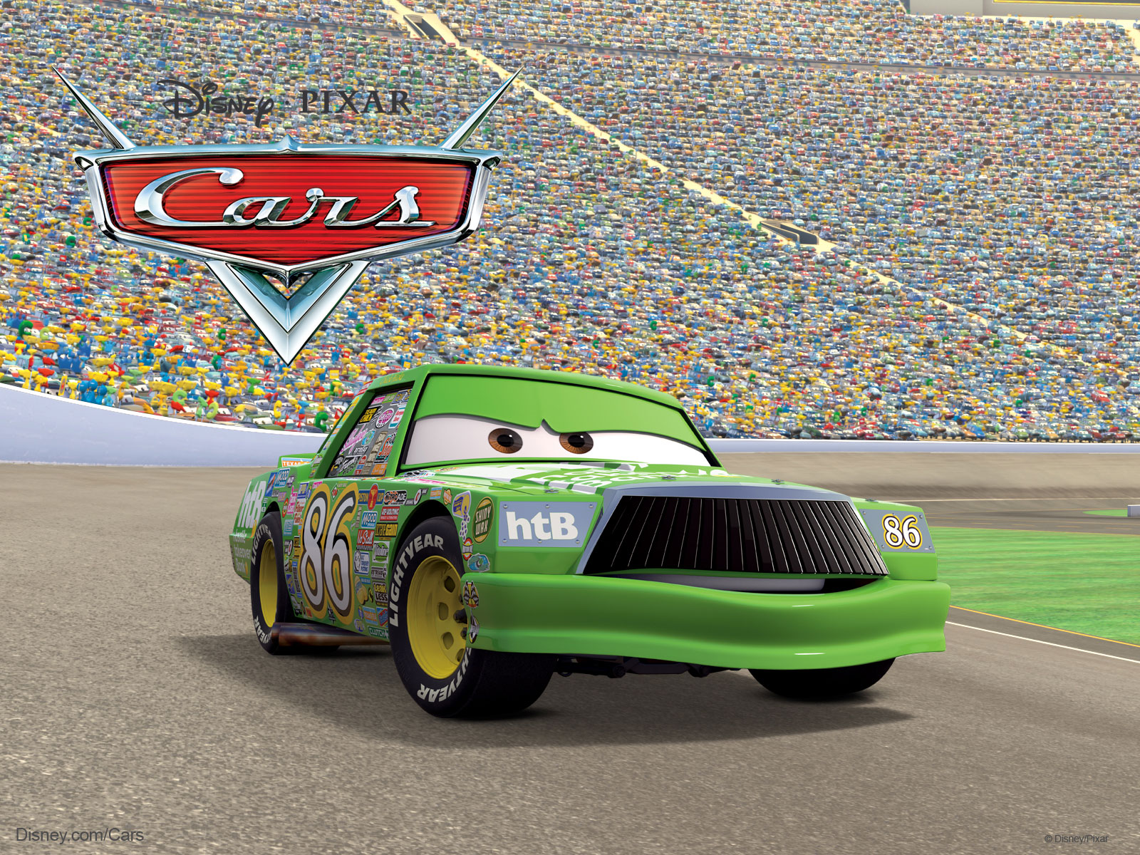 Hicks The Race Car From Pixar S Cars Movie Wallpaper