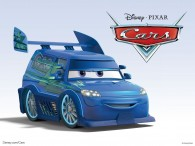 DJ the custom car from Disney/Pixar movie Cars wallpaper