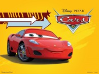 Michael Schumacher is a Ferrari F430 in the Disney Pixar movie Cars wallpaper