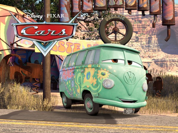 Fillmore is a VW bus hippie in the Disney Pixar movie Cars wallpaper