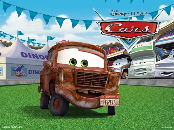 Fred the rusty in the Disney Pixar movie Cars wallpaper