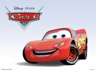 Lightning McQueen the red race car from the Disney/Pixar move Cars wallpaper