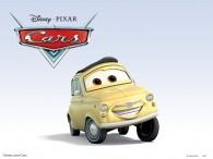 Luigi the Italian car from the Disney/Pixar move Cars wallpaper