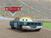 Mario Andretti as a race car from Disney-Pixar movie Cars wallpaper