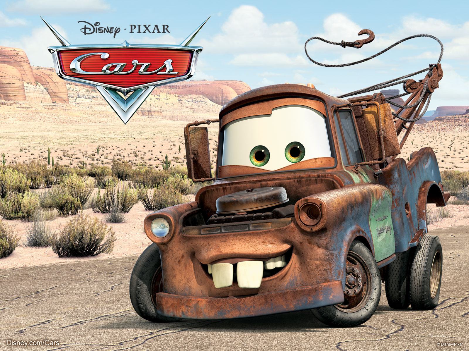 Mater The Tow Truck From Disney Pixar Movie Cars Wallpaper
