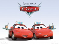 Mia and Tia from Disney-Pixar movie Cars wallpaper