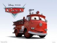 Red the fire engine truck from the Disney/Pixar movie Cars