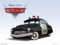 Sheriff the police car from the Disney/Pixar CG animated movie Cars