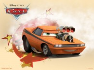 Snot Rod the muscle car from the Disney/Pixar CG animated movie Cars