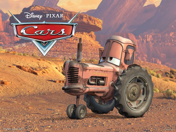 A cow-like Tractor from the Disney/Pixar CG animated movie Cars